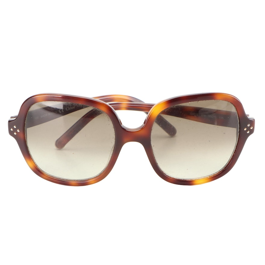 Chloé CE631S Tortoiseshell Style Sunglasses with Case