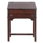 George III Period Cherry Slant Top Secretary Desk, circa 1800