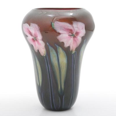"""Mark Lotton Blown Glass Vase """"Multi Flora"""""""