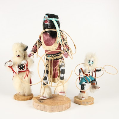 "Elroy Woody ""Hoop Dancer"" Kachina Dolls and Others"