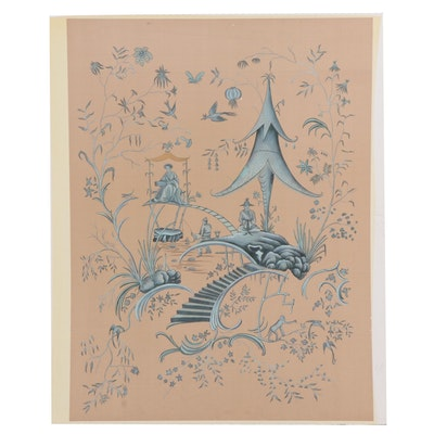 Chelsea House Inc. Chinoiserie Watercolor Painting