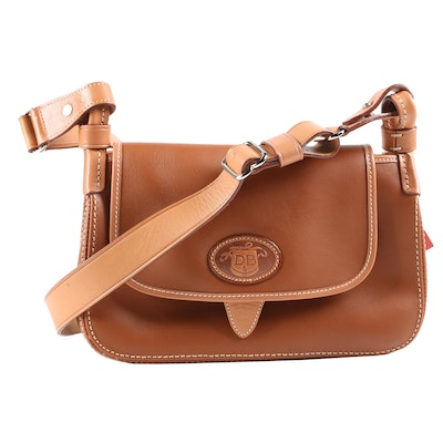 Dooney & Bourke Donegal Crest 0271 Flap Bag in Tan Leather
