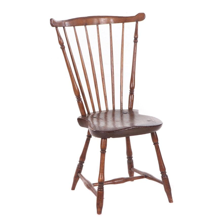 George III Period Ash Windsor Side Chair, Late 18th Century