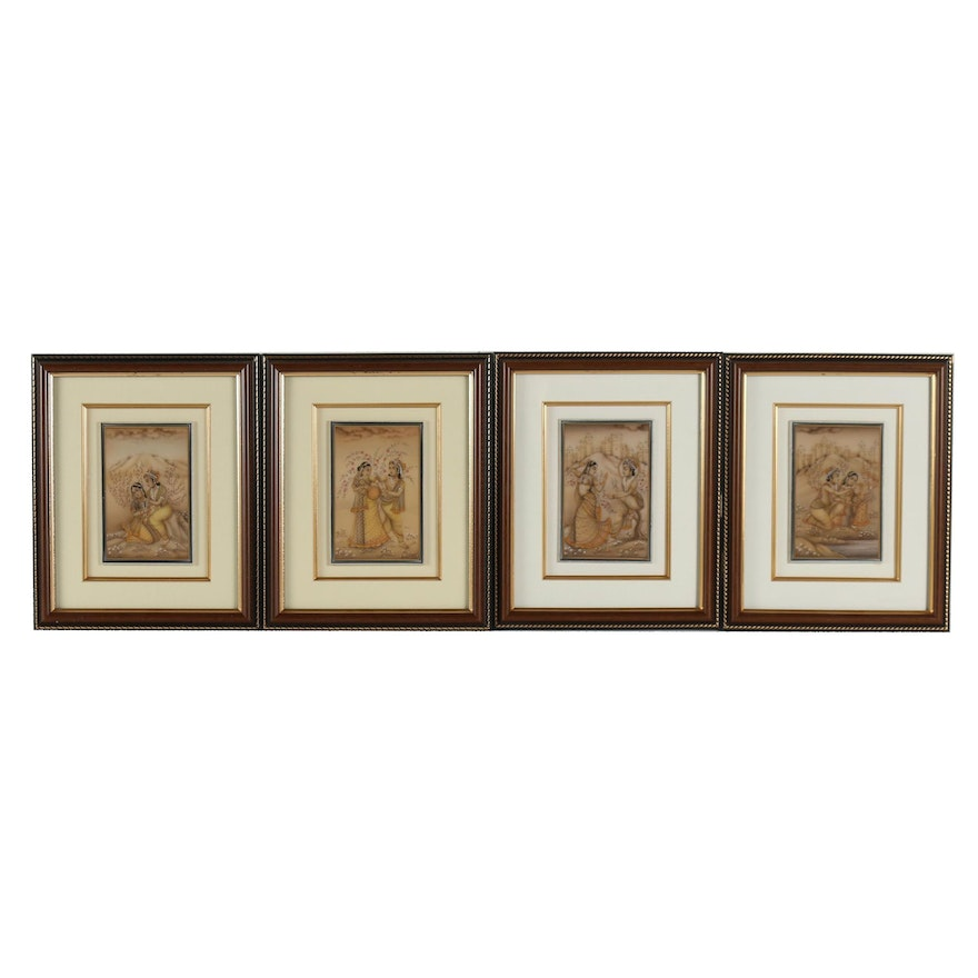 Indian Gouache Paintings on Stone