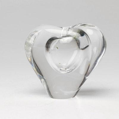 Hand Blown Clear Art Glass Vase