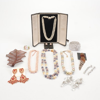 Assorted Jewelry Featuring Kenneth Jay Lane Necklaces