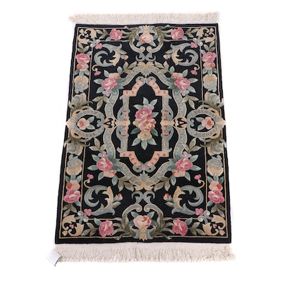 Hand-Knotted Chinese Carved Wool Rug