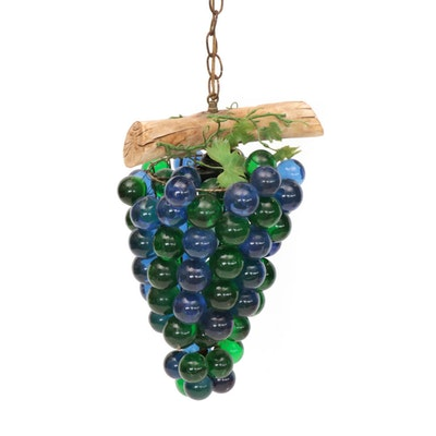 Mid Century Modern Lucite Grape Cluster Pendant Light