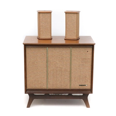 RCA Victor PVCR-244 Stereo Cabinet and Wall Speakers, Mid-Century