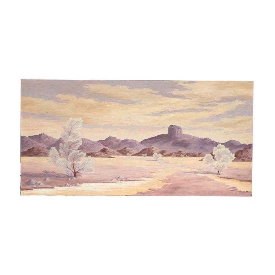 Lora Shapard Acrylic Painting of Landscape