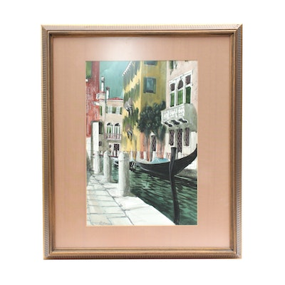 Roberts Watercolor Painting of Venice