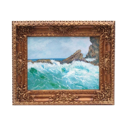 """Robert Riddle Acrylic Painting """"Trapped Wave"""""""