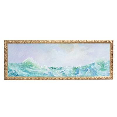 "Robert Riddle Acrylic Painting ""Restless Seas"""