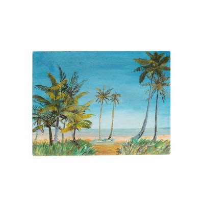 "Acrylic Painting ""Path to the Beach"""