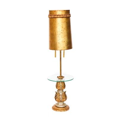 Hollywood Regency Gilt Lamp Table, Vintage