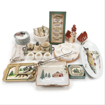 Folk Craft, Sorrento and Other Ceramic Tableware and Decor
