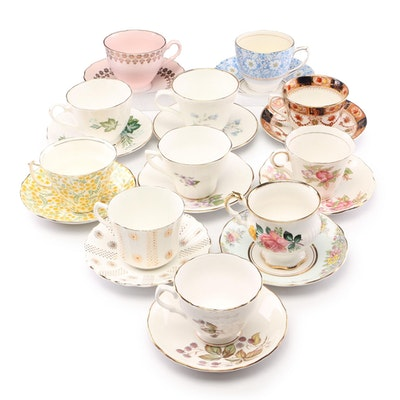 Bone China Tea Cup and Saucer Collection