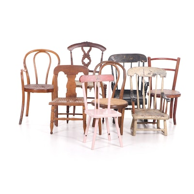 Assorted Children's Chairs, 19th Century