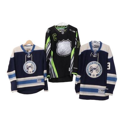 Columbus Blue Jackets Hockey Jerseys Including Seth Jones and Nick Foligno