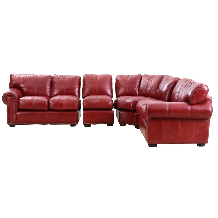 Leather Trend Sectional Sofa, Contemporary