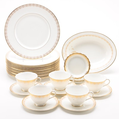 "Royal Doulton ""Gold Lace"" China Dinnerware, 1966 - 1992"