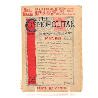 """H.G. Wells First American Serialized """"War Of The Worlds"""" in 1897 """"Cosmopolitan"""""""