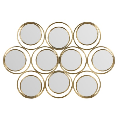 West Elm Gold Tone Multi-Circle Wall Mirror
