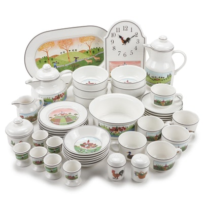 "Villeroy & Boch ""Design Naïf"" Breakfast Set, Service for Six"