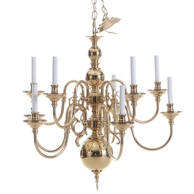 Federal Style Chandelier, Mid to Late 20th Century