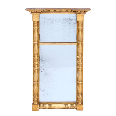 James Todd American Designer Giltwood Wall Mirror, Mid-19th Century
