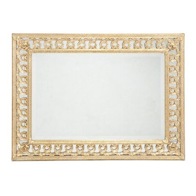 Friedman Brothers Decorative Arts Gold Painted Ribband Motif Framed Mirror