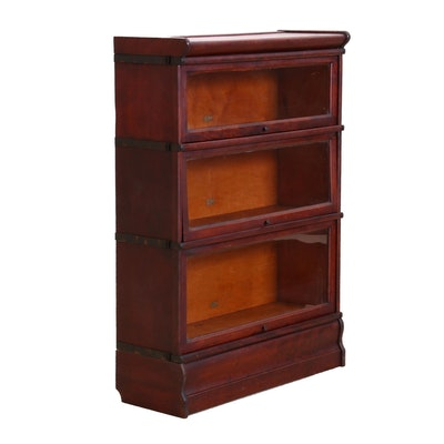 Hale's Federal Style Birch Barrister Bookcase, Early 20th Century