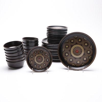 "Denby-Langley Stoneware ""Samarkand Brown"" Dinnerware"