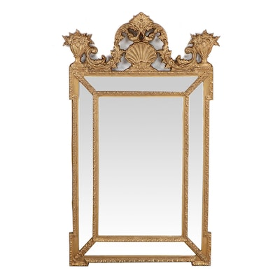 Baroque Style Gold Painted Wall Mirror