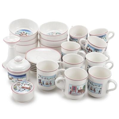 """Villeroy & Boch """"Naif Christmas"""" Porcelain Dinnerware and Table Decor"""