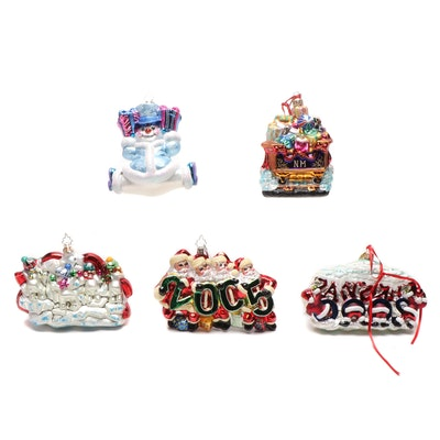 Christopher Radko Glass Christmas Ornaments