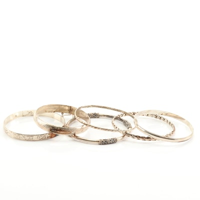 Sterling Silver Bangle Bracelets