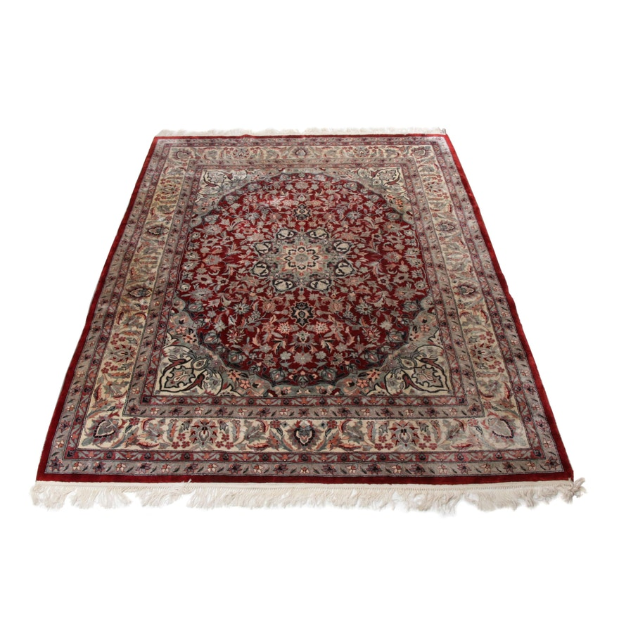 Hand-Knotted Sino-Persian Tabriz Rug