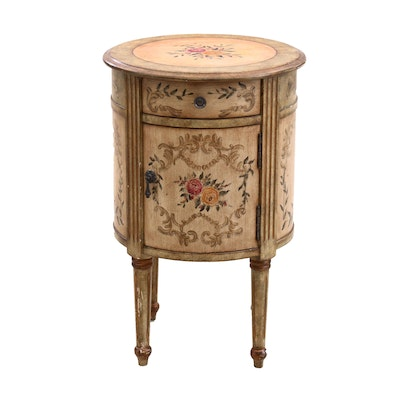 Floral Painted Accent Table