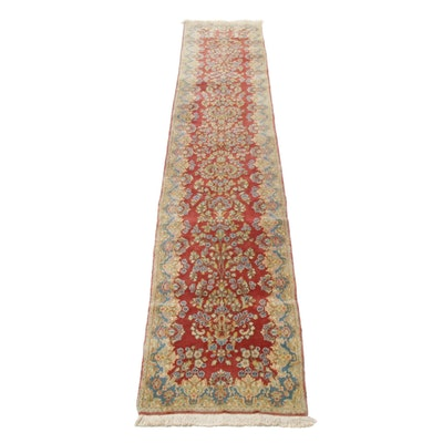 Hand-Knotted Persian Imperial Kerman Carpet Runner