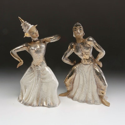 Yona Thai Style Dancing Statues, Mid to Late 20th Century