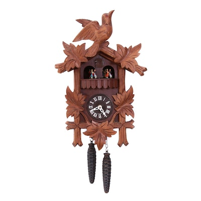 German Black Forest Style Musical Cuckoo Clock with Swiss Movement