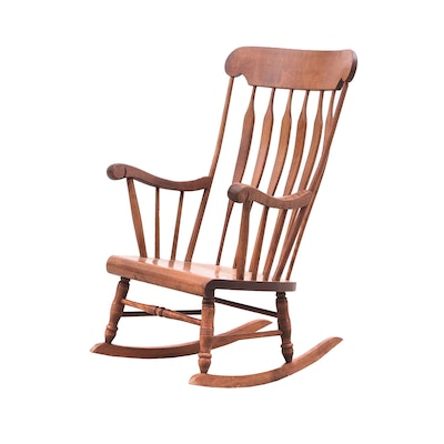 Colonial Revival Bent Bros. Rocking Chair, Mid to Late 20th Century