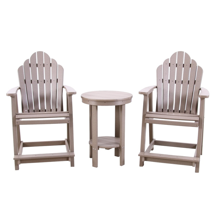 Berlin Gardens Composite Patio Chairs and Side Table, Contemporary