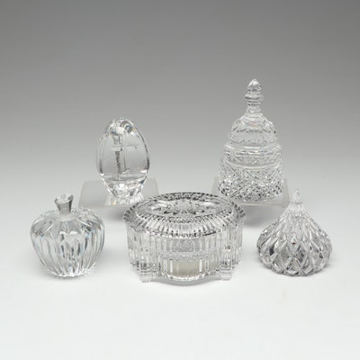 "Crystal Paperweights and Waterford ""Memory""/""Cats"" Music Box"