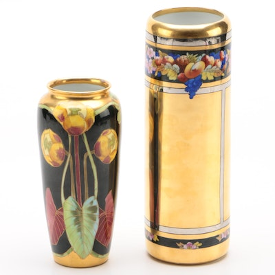 Pickard Hand-Painted Porcelain Vases