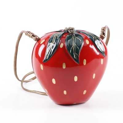 Timmy Woods of Beverly Hills Handmade Wooden Strawberry Designer Bag