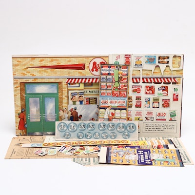 """A&P """"Play Store"""" Cardboard Play Set, 1950s"""