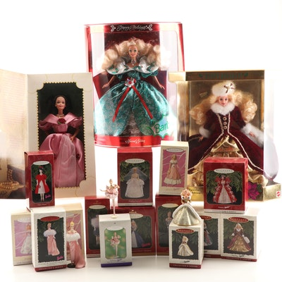 Holiday and Valentine's Day Barbies and Barbie Ornaments