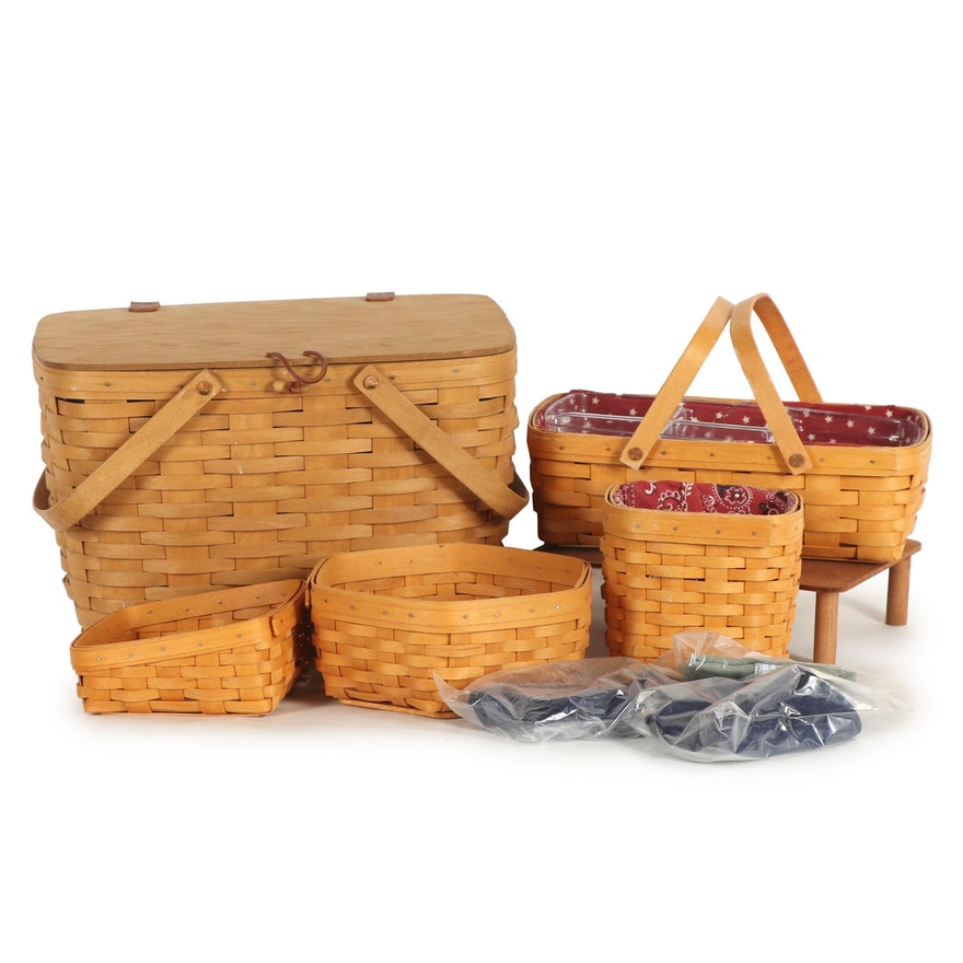 Longaberger Handwoven Maple Baskets